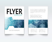 Business design template. Cover brochure book flyer magazine layout mockup geometric polygonal shapes info-graphic Stock Images