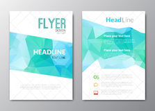 Business design template. Cover brochure book flyer magazine layout mockup geometric triangle polygonal shapes info Royalty Free Stock Images