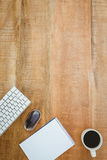 Business desk with coffee and laptop Royalty Free Stock Photography