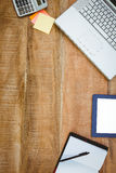 Business desk with laptop and tablet Stock Photography