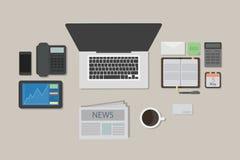 Business desk mockup. Stock Photography
