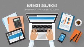 Business desktop Stock Image