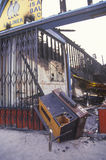 Business destruction at 1992 riots Stock Photo