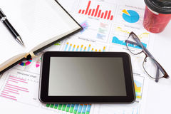 Business detail of a tablet Stock Image