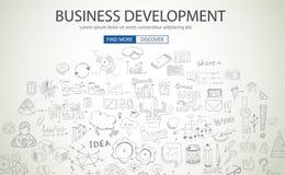 Business Development concept wih Doodle design style Stock Image