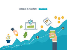 Business development. Financial report and strategy.  Investment growth. Stock Images