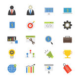 Business Development Flat Icons color Royalty Free Stock Photography