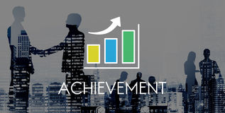 Business Development Growth Bar Chart Concept royalty free stock photo