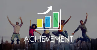Business Development Growth Bar Chart Concept Stock Photos
