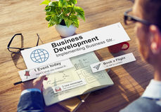 Business Development Growth Success Improvement Conept Stock Image