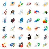 Business development icons set, isometric style. Business development icons set. Isometric style of 36 business development vector icons for web isolated on Stock Photo
