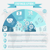 Business development infographics vector Royalty Free Stock Photography