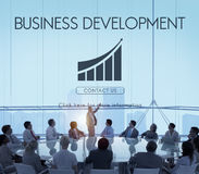 Business Development Startup Growth Statistics Concept stock images