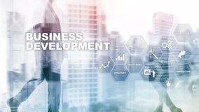 Business Development Startup Growth Statistics. Financial Plan Strategy Development Process Graphic Concept. Business Development Startup Growth Statistics stock photography