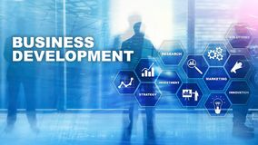 Business Development Startup Growth Statistics. Financial Plan Strategy Development Process Graphic Concept.  royalty free stock photography