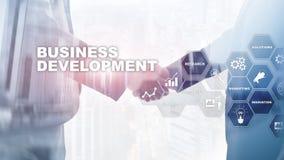 Business Development Startup Growth Statistics. Financial Plan Strategy Development Process Graphic Concept. Business Development Startup Growth Statistics stock photo