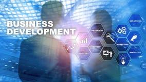 Business Development Startup Growth Statistics. Financial Plan Strategy Development Process Graphic Concept. Business Development Startup Growth Statistics royalty free stock image