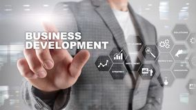 Business Development Startup Growth Statistics. Financial Plan Strategy Development Process Graphic Concept. Business Development Startup Growth Statistics royalty free stock photography