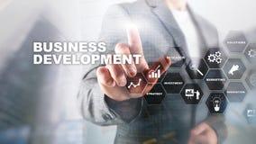 Business Development Startup Growth Statistics. Financial Plan Strategy Development Process Graphic Concept. Business Development Startup Growth Statistics royalty free stock photo