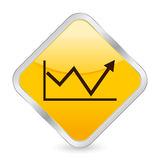 Business diagram 2 yellow icon. Yellow square icon isolated on a white background. Vector illustration Royalty Free Stock Photo