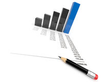 Business diagram 3d. Isolated Stock Photography