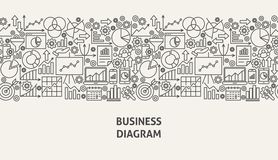 Business Diagram Banner Concept. Vector Illustration of Line Web Design Stock Images