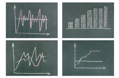 Business diagram on blackboard Royalty Free Stock Photography