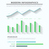 Business diagram chart bar graph vector infographic template Royalty Free Stock Photos