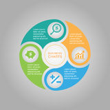 Business Diagram circle Royalty Free Stock Image