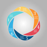 Business Diagram circle Royalty Free Stock Photography