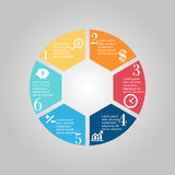 Business Diagram circle Royalty Free Stock Images