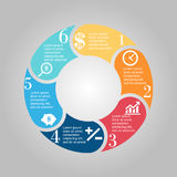 Business Diagram circle Royalty Free Stock Photo