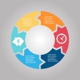 Business Diagram circle Royalty Free Stock Photos
