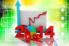 Business diagram 2014 Royalty Free Stock Photo