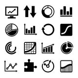 Business Diagram and Infographic Icons Set Stock Image