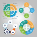 Business diagram infographics set. Chart 4 5 Royalty Free Stock Photo