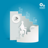 Business diagram paper cut style  template  / can be used for in Stock Images
