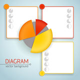 Business diagram template with text fields Royalty Free Stock Photos