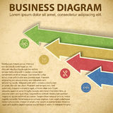 Business diagram template with text fields Royalty Free Stock Photography