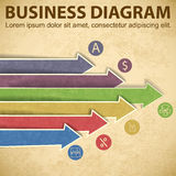Business diagram template with text fields Royalty Free Stock Image