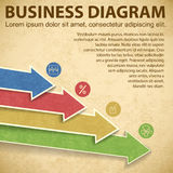 Business diagram template with text fields Royalty Free Stock Photo