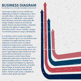 Business diagram template with text fields Stock Photos
