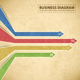 Business diagram template with text fields Stock Image