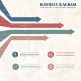 Business diagram template with text fields Stock Images