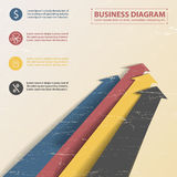 Business diagram template with text fields Stock Photo