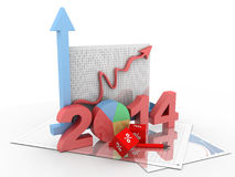 Business diagram 2014 Royalty Free Stock Image
