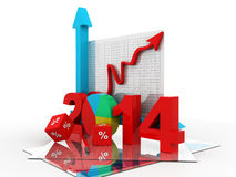 Business diagram 2014 Stock Image