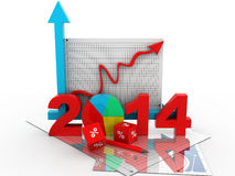 Business diagram 2014 Stock Photo