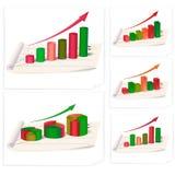 Business diagrams collection. Varius business diagrams collection for business reports . Vector illustration Stock Photos