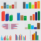 Business diagrams and graphics. Set of charts and graphs for reports and statistics Stock Photography